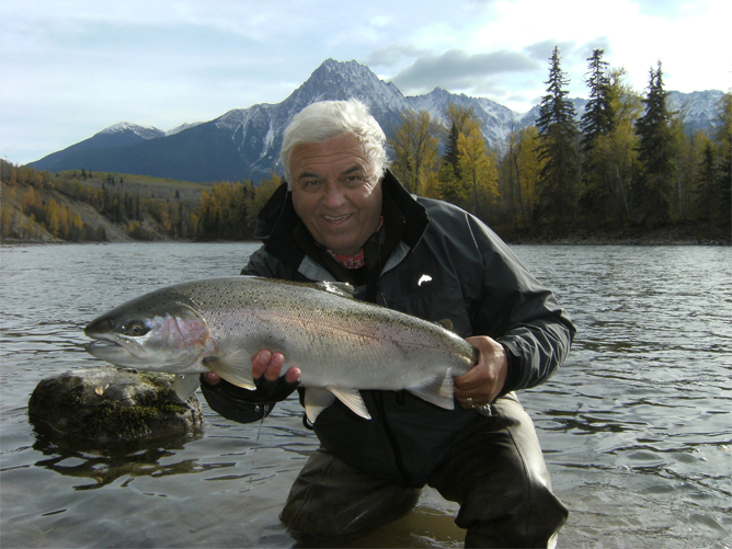 Dale with a pretty hen Steelhead