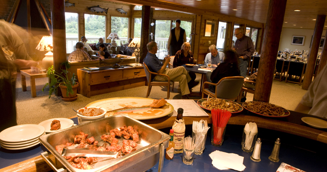 Wonderful appetizers await you after a day out in the wilderness.