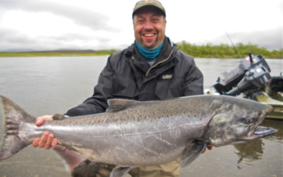 Togiak River King salmon caught at Mission Lodge in Bristol Bay Alaska