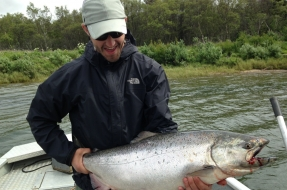 King Salmon  in Bristol Bay Alaska at Mission Lodge