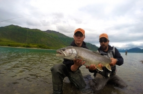Sixteen pound Lake Trout caught in Bristol Bay Alaska
